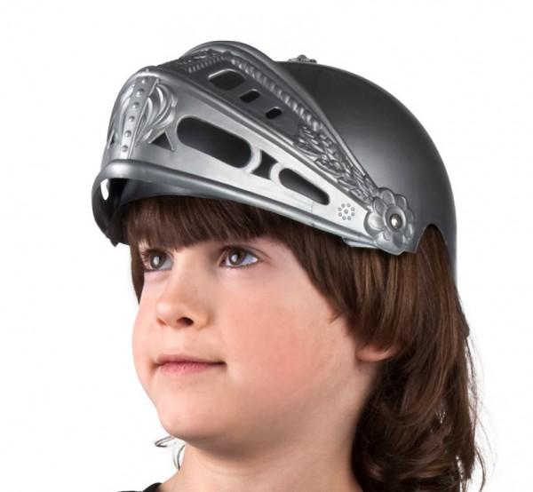 Ritter Helm grau für Kinder
