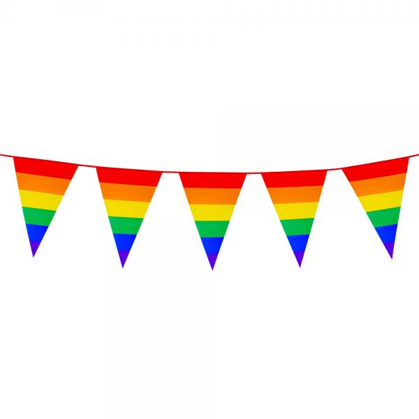 Regenbogen Wimpelkette 8 m lang
