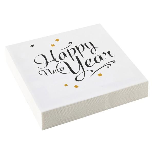 Happy New Year Servietten 20 Stück Packung