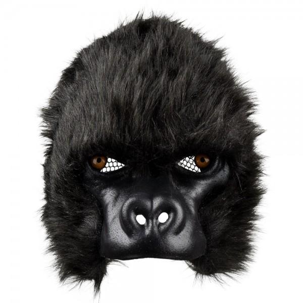 GORILLA Maske aus Plüsch Halbmaske
