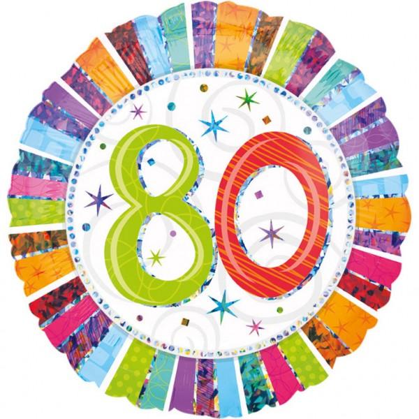 Bunter Geburtstagsballon zum 80er