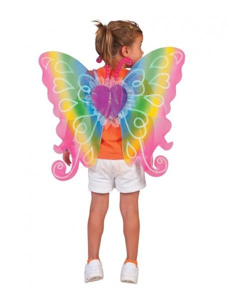 Regenbogen Flügel ca. 60x54cm