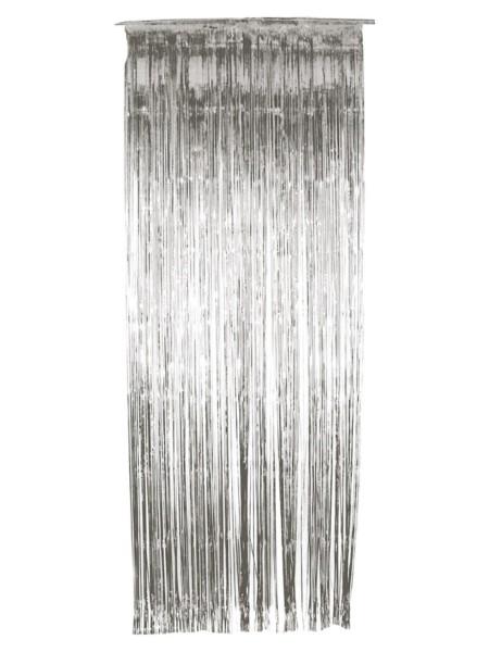 Silber Glitzer Folien Vorhang 244x91cm
