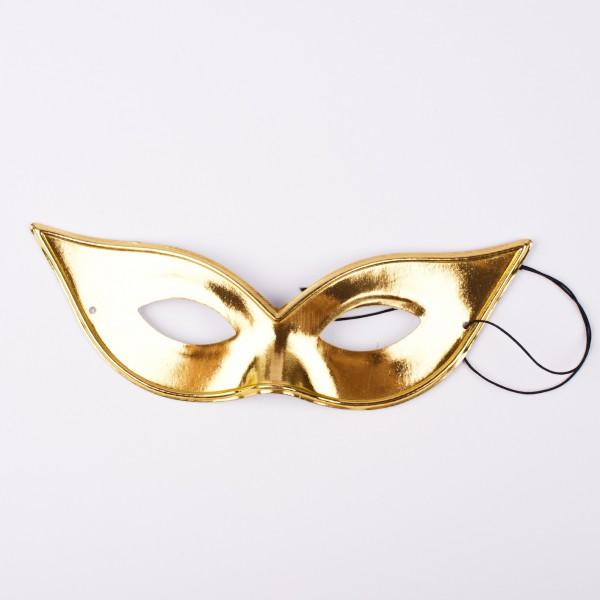 Spitze Augenmaske gold glänzend