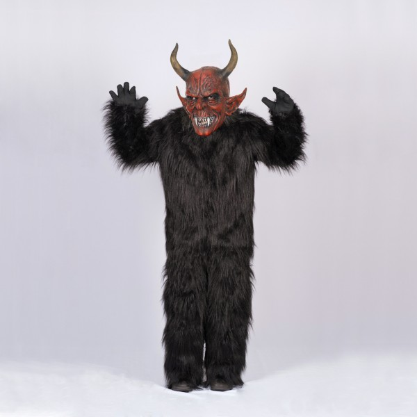 Krampus SET Overall MEDIUM mit Maske für Erwachsene