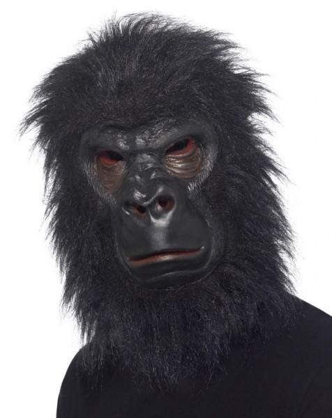 Gorilla Maske aus Latex mit Plüsch Haaren