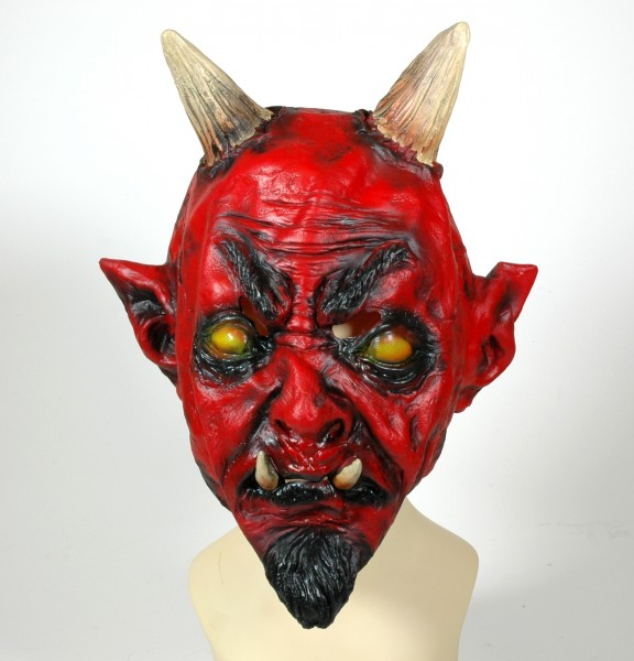 Krampus Teufel Maske aus Latex für Erwachsene