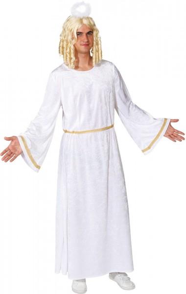 Engels Kostüm für Herren weiß-silbernes Kleid