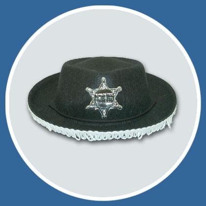 Cowboy Hut klein für Kinder mit Fransen