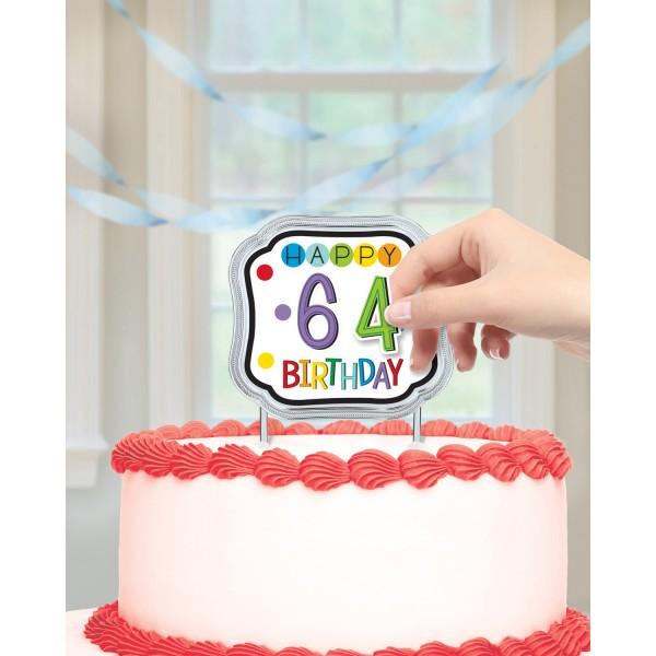 Tortendekoration Happy Birthday mit Zahlen