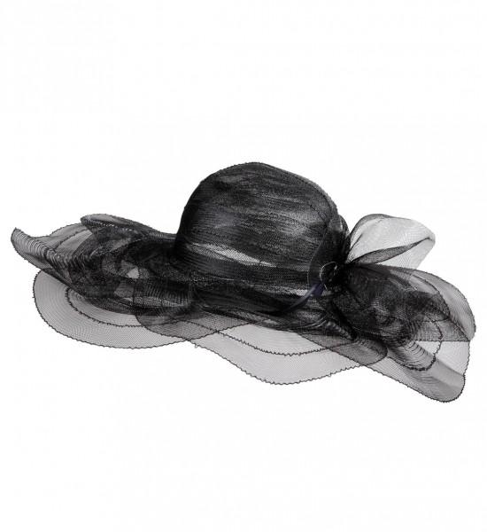 Eleganter schwarzer Damenhut schwarz