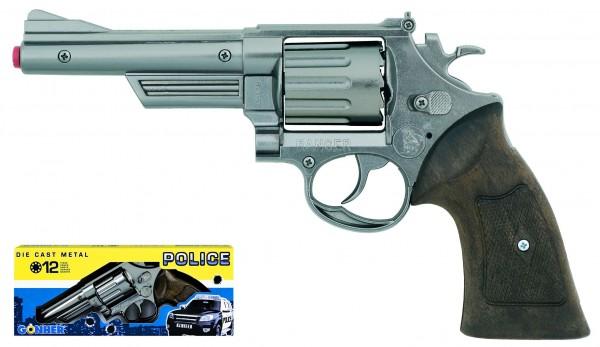 Polizei Revolver aus Metall XL 12Schuss