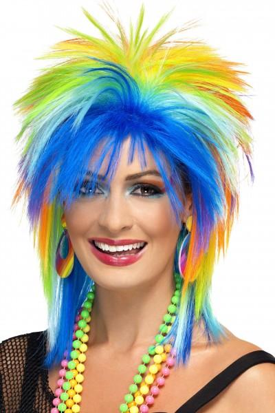 80´s Rainbow Punk Perücke