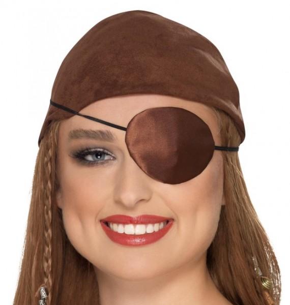 Piraten Augenklappe braun