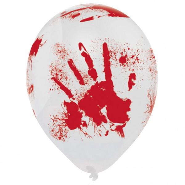 """6er Packung Halloween Ballons """"blutig"""""""