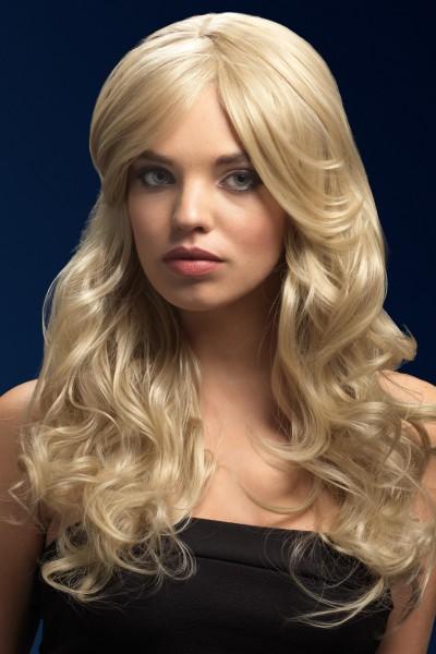 Nicole dunkel blonde Perücke Premium Qualität