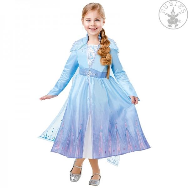 Elsa Frozen 2 Deluxe Kleid LARGE für Kinder