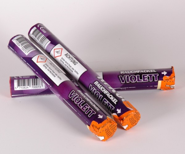 Rauchfackel violett mit Zündschnur 1 Minute