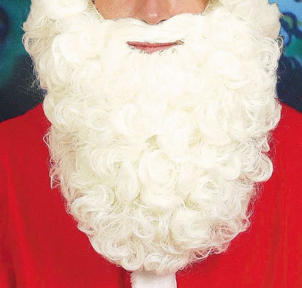 Weihnachtsmann Bart weiss ca. 25cm lang