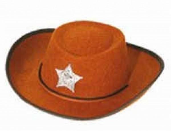 Cowboy Hut für Kinder braun
