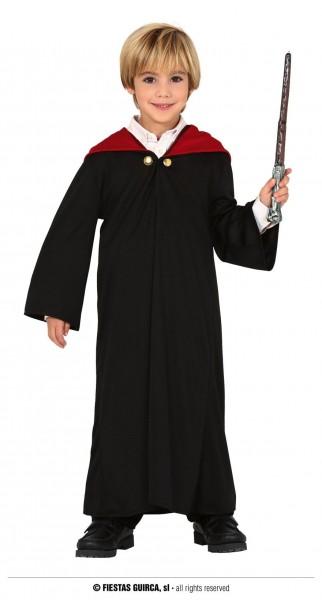 Zauberlehrling Mantel mit Kapuze 7-9 J schwarz/rot