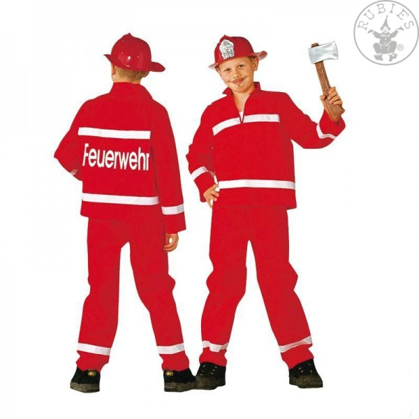 Feuerwehrmann rot 2teilig Größe 128