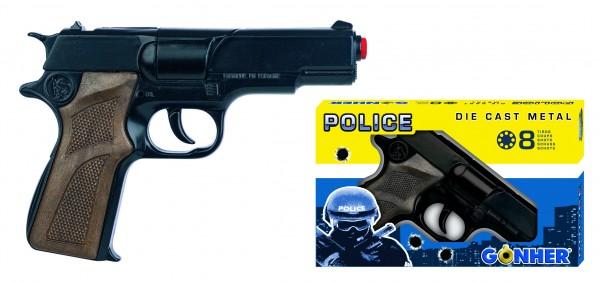 Polizei Pistole Nr.125 8 Schuss Metall