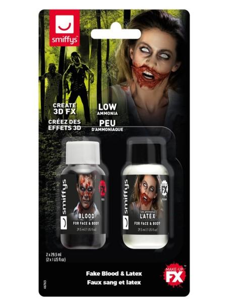 MakeUp Set Blut und Latex