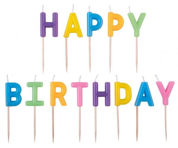 Buchstaben Kerzen Happy Birthday