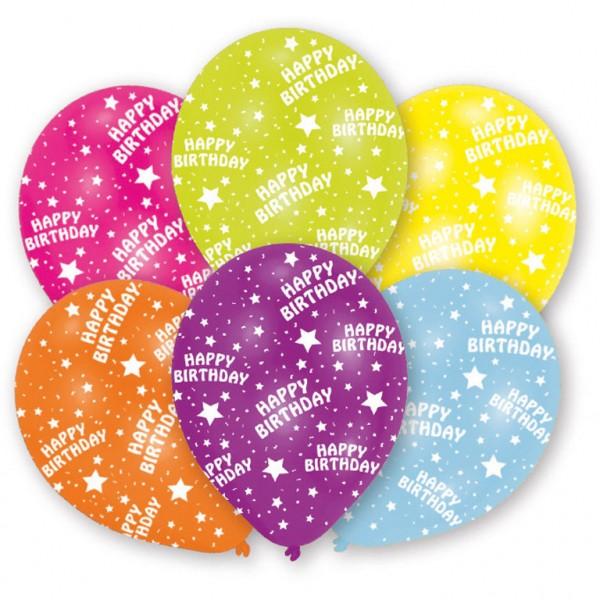 6 Stück Happy Birthday Luftballons