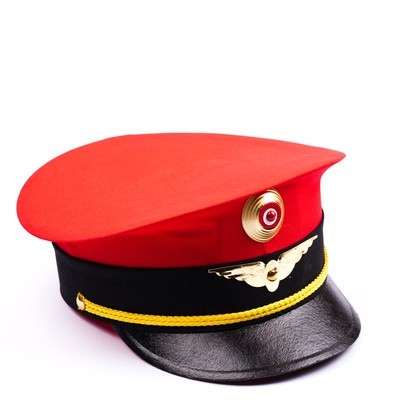 Vorstandsmütze Schaffner Kappe in rot für Kinder
