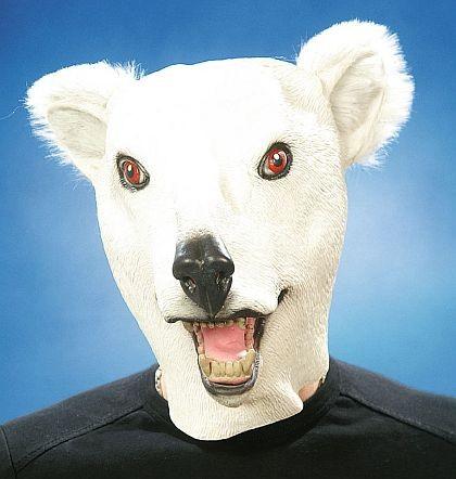 Gummimaske Eisbär