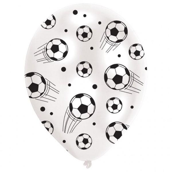 6 Stück Luftballons mit Fußball Motiv