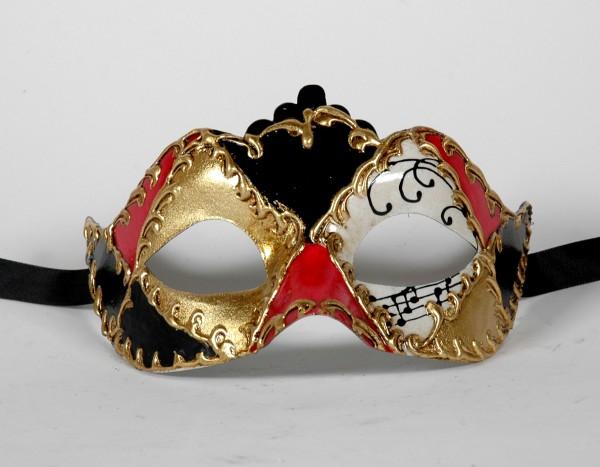 Venezianische Maske Columbina Punta Karo Muster