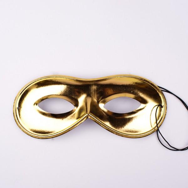 Augenmaske gold glänzend (51-646)