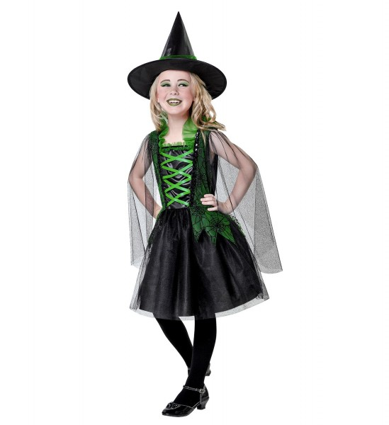 Wicked Witch Hexenkleid schwarz-grün Größe 140