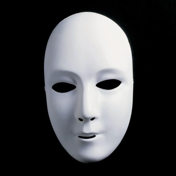 Weiße Maske groß - ganzes Gesicht