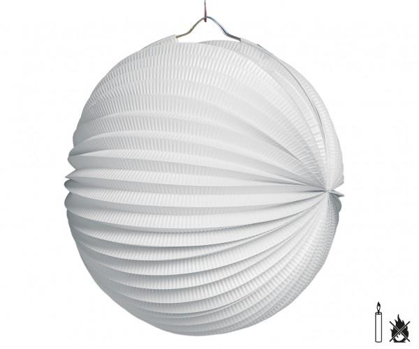 Lampion weiß rund D:25cm