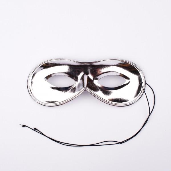 Augenmaske silber glänzend (51-647)