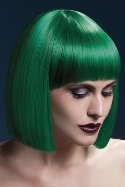 Pagen Kopf Perücke grün LOLA Premium Qualität