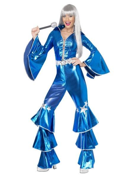 70er Jahre Dancing Dream Kostüm blau