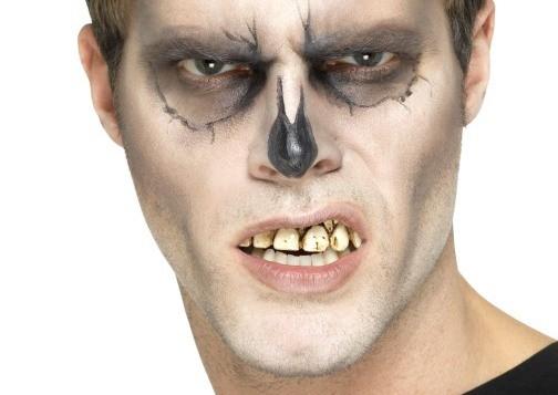 Skelett Zähne zum Aufstecken