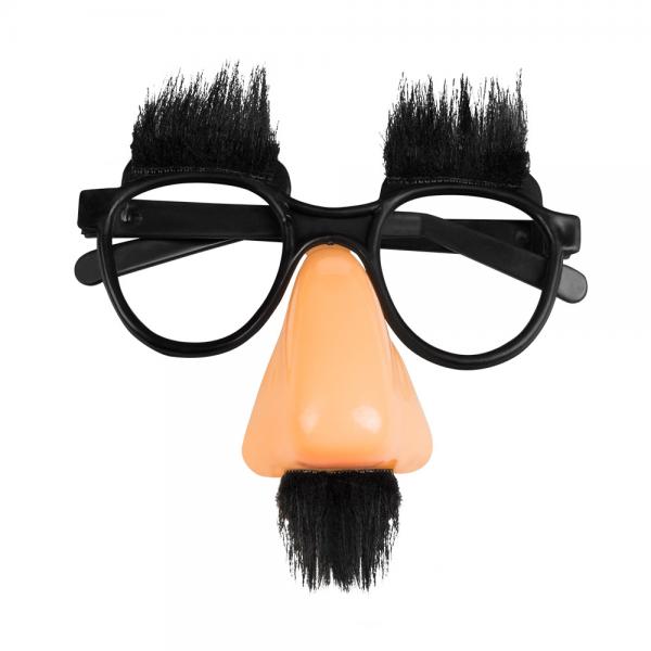 Lustige Brille mit Nase und Bart