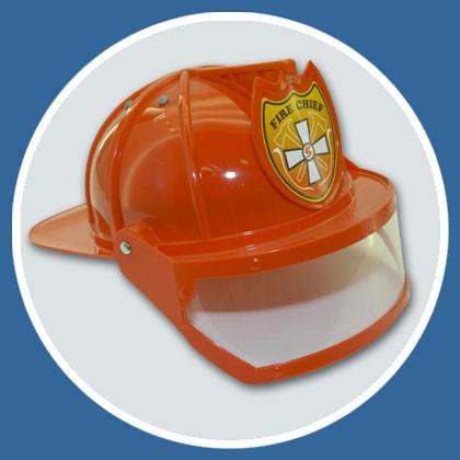 Feuerwehr Helm rot mit Visier