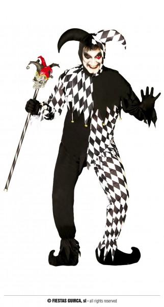 Joker Kostüm schwarz-weiss M 48-50