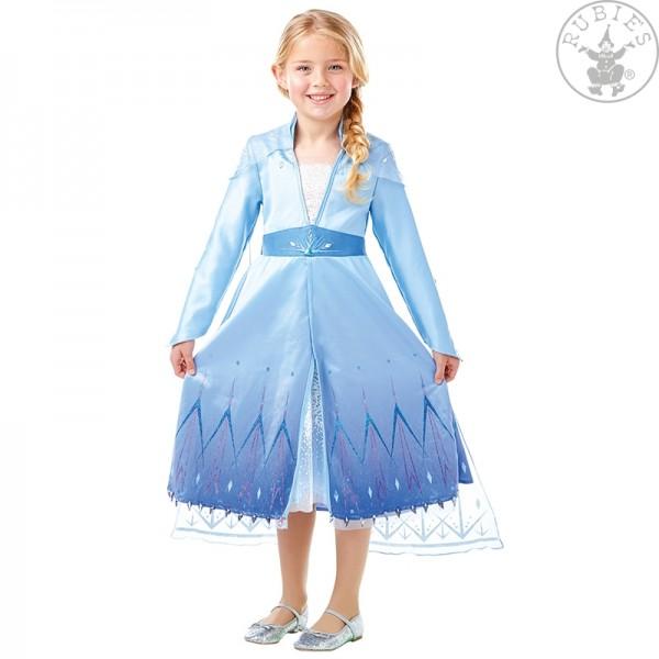 Elsa Frozen 2 Premium Kleid LARGE für Kinder