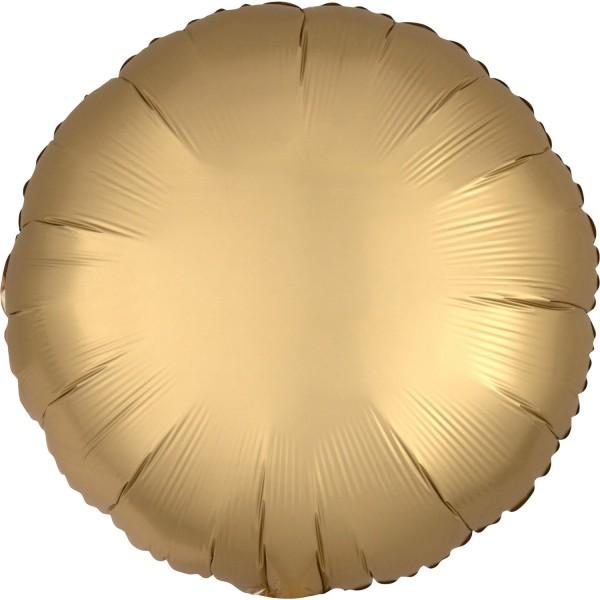 Runder Luftballon satin-gold