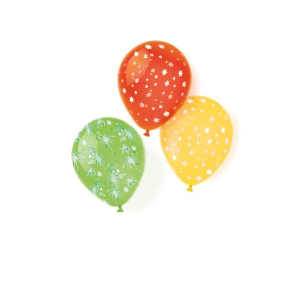 6 Luftballons Sternen Aufdruck sortierte Farben D:25,4 cm