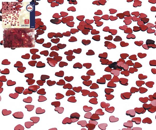 Deko Konfetti rote Herzen 15gr