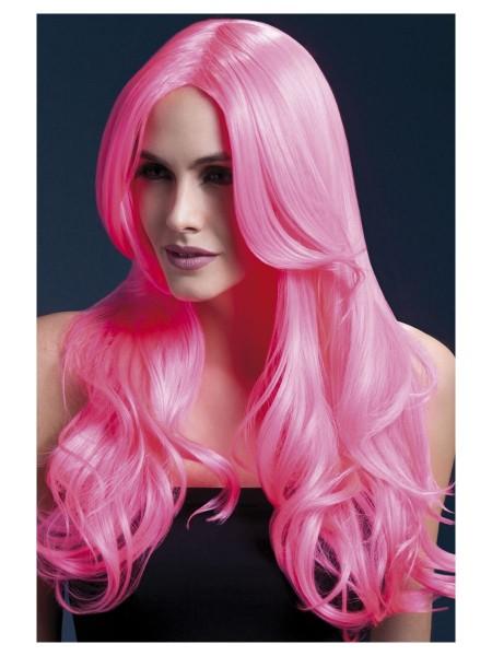 Khloe Perücke neon-pink Premium Qualität
